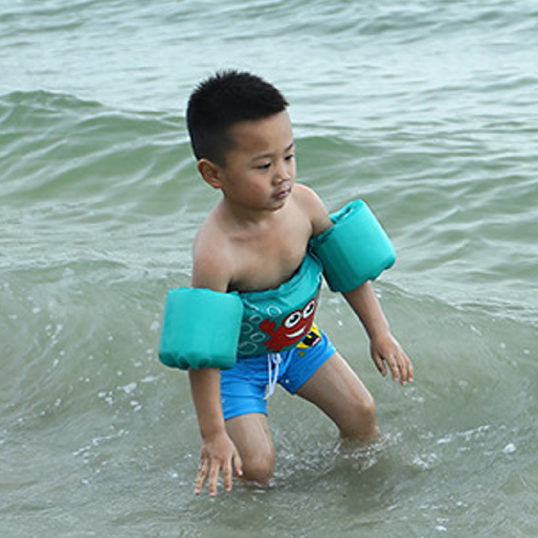 Hot Child Swim Vest Cartoon Swim Pool Swimming Arm Ring Safety Training 2-7 Year Old Children Swimming Arm Circle Float Ring