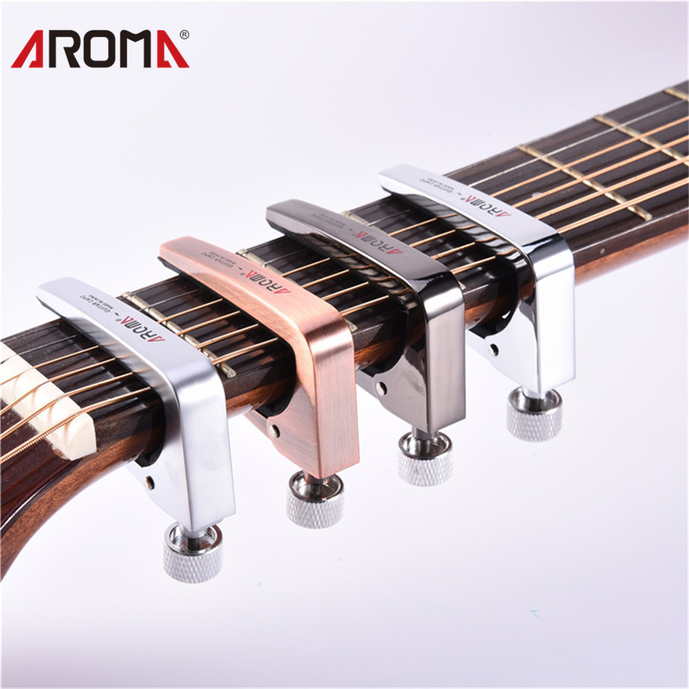 Aroma Ac-11 Zinc Alloy Capo For Acoustic Electric Guitar Bass Guitarra Parts Accessories Adjustable Universal Guitar Capos