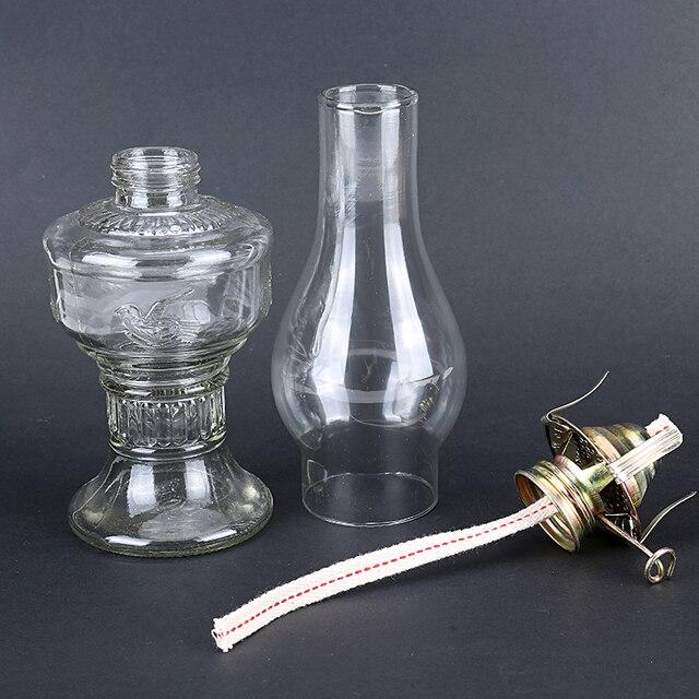 Advance Booking 32cm Glass Kerosene Lanterns Oil Lamp Glass Classic Retro Family Decorative Lights High Capacity