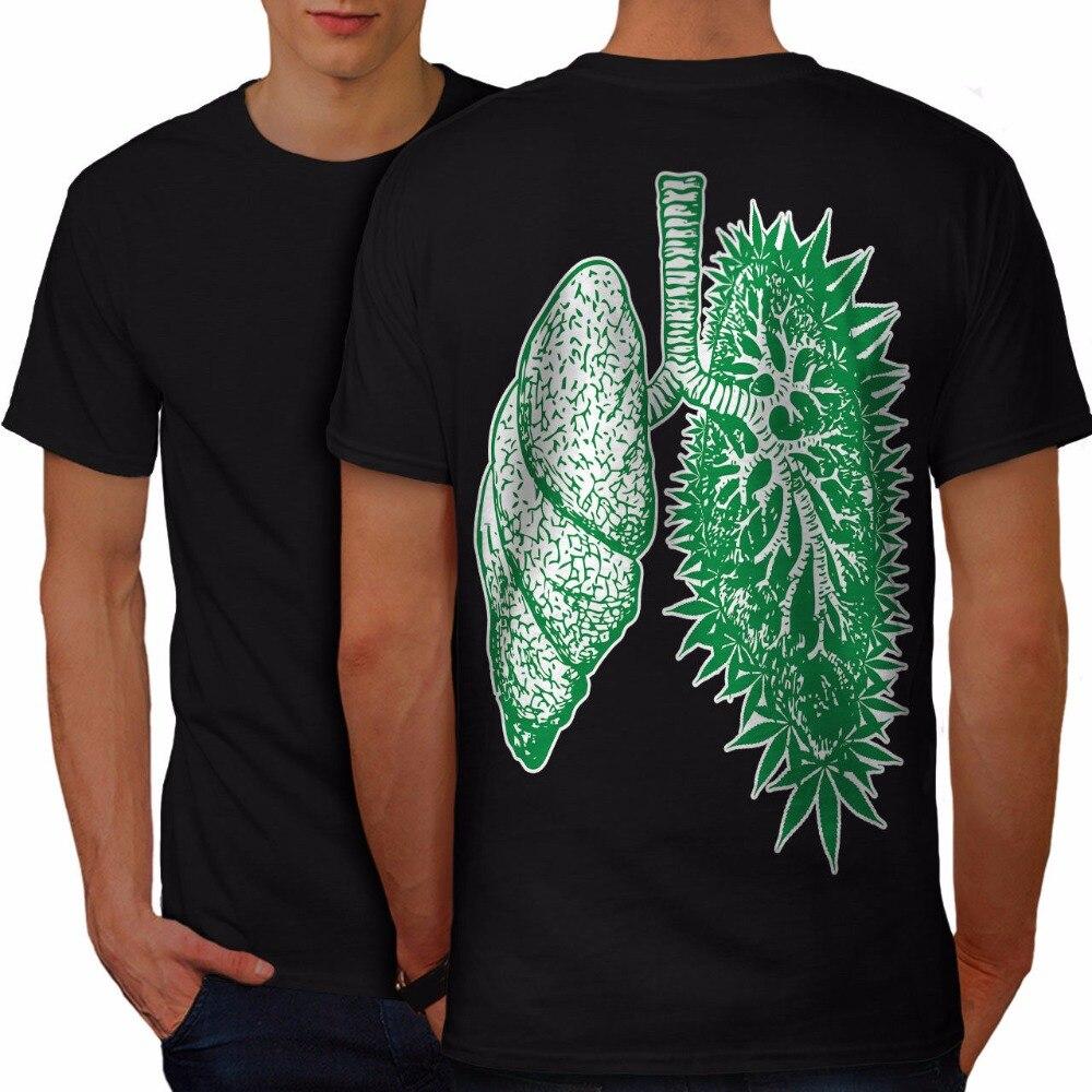 Design Your Own T Shirt Online Short Crew Neck Funny Grass Lung Men