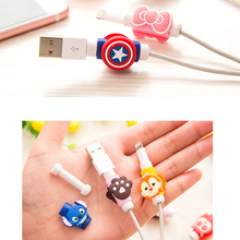 USB cable Earphones Protector colorful hello kitty Cover For iphone android cable Data Line Protection sleeve A0098
