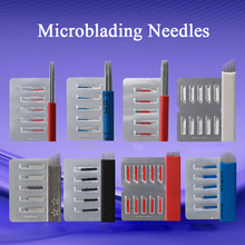Tattoo Blade Accessories Permanent Makeup Eyebrow Microblading Needles 7/9/11/12cf Disposable Sterilized Tattoo Needles for Sale
