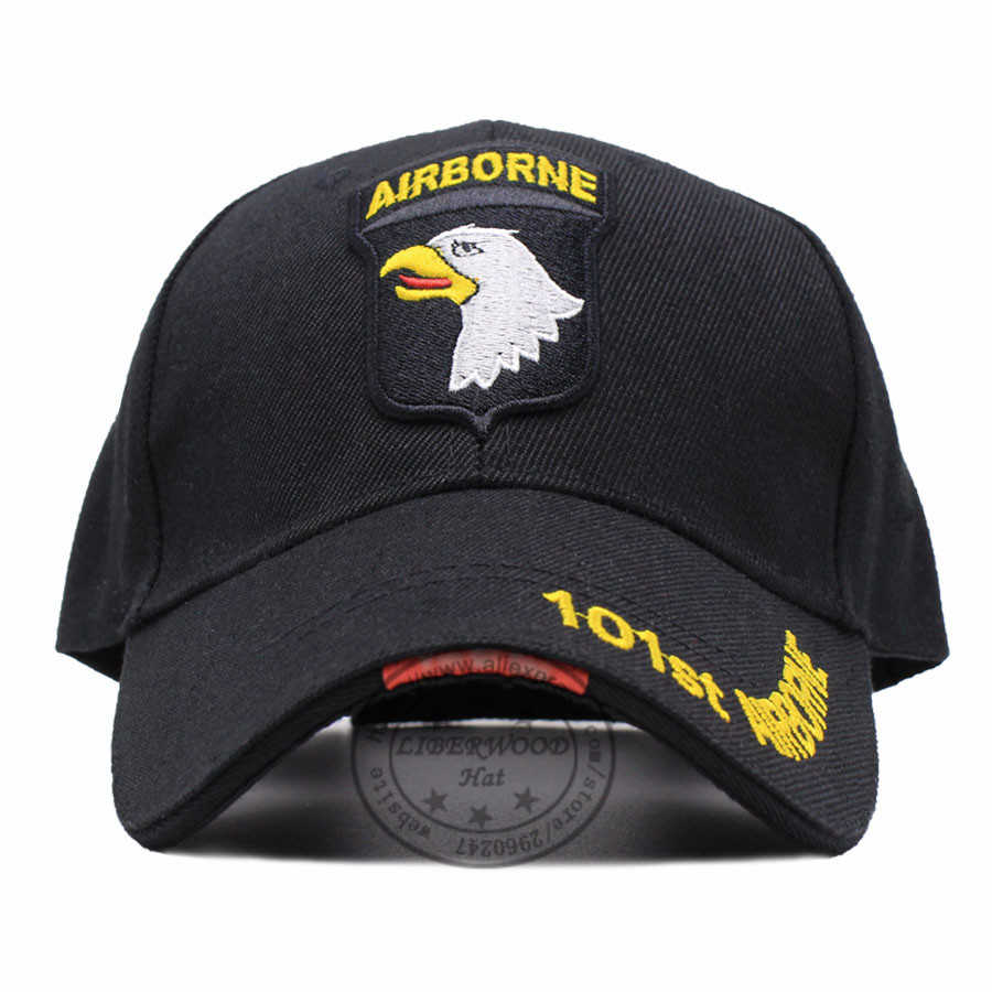 LIBERWOOD US ARMY 101ST AIRBORNE DIVISION SCREAMING EAGLES Cap Hat Air  Force Baseball caps for Men Embroidered cap hats BLACK-in Baseball Caps  from Apparel ... 821748774dad