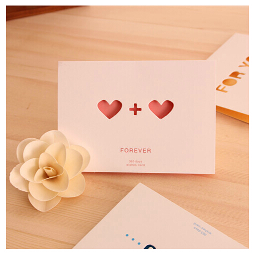 korea creative new year greeting card love confession birthday gift romantic small cards with envelopes clear in business cards from office school