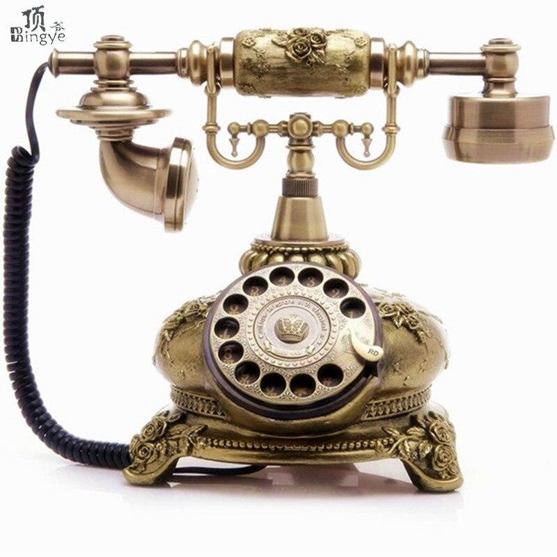 Ye are the top rotating disc antique European Garden retro home office telephone landline telephone
