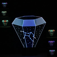 New Novelty Invention 3D Zodiac Constellation Virgo LED Night Light Mixed Color Lamp 7 Color Change