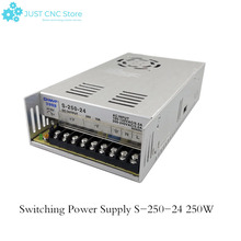 24V 10A AC/DC PSU Regulated Switching Power Supply S-250-24 250W s 250 48 led power supply switch 250w 48v 5a ac dc converter s 250w 48v variable dc voltage regulator power supply unit