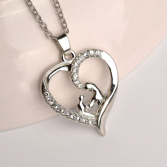 Hot mothers day gift elegant mother children necklace mom baby hot mothers day gift elegant mother children necklace mom baby child family love rhinestone heart pendant mozeypictures Image collections