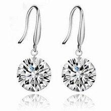 New Austria Crystal Elegant wedding earrings silver plated zircon crystal Shining Dangle Drop Earrings For Women Jewelry