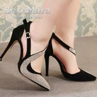 2017 New Dance Shoes Sexy Women Silver Rhinestone Wedding Shoes Platform Pumps Red Bottom High Heels
