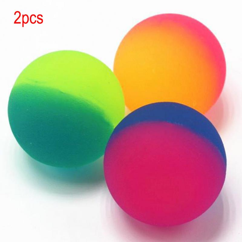 2018 New Arrive 2PCS Double Color Luminous Bouncing Ball Glow Intelligent Kids Outdoor Healthy Sports Toys(China)