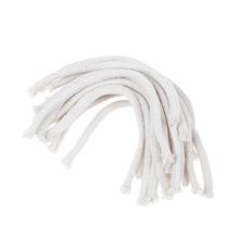 5 sztuk partia okrągła bawełniana lampa naftowa nafta knoty palnik alkohol knot liny bawełna knot DIY materiały fizyczne biały 15cm długości tanie tanio JETTING BAMBOO