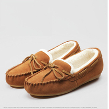 2017 Hot women leather ballet flats casual shoes round toe flats autumn winter warm ballerina flats lady's boat shoes