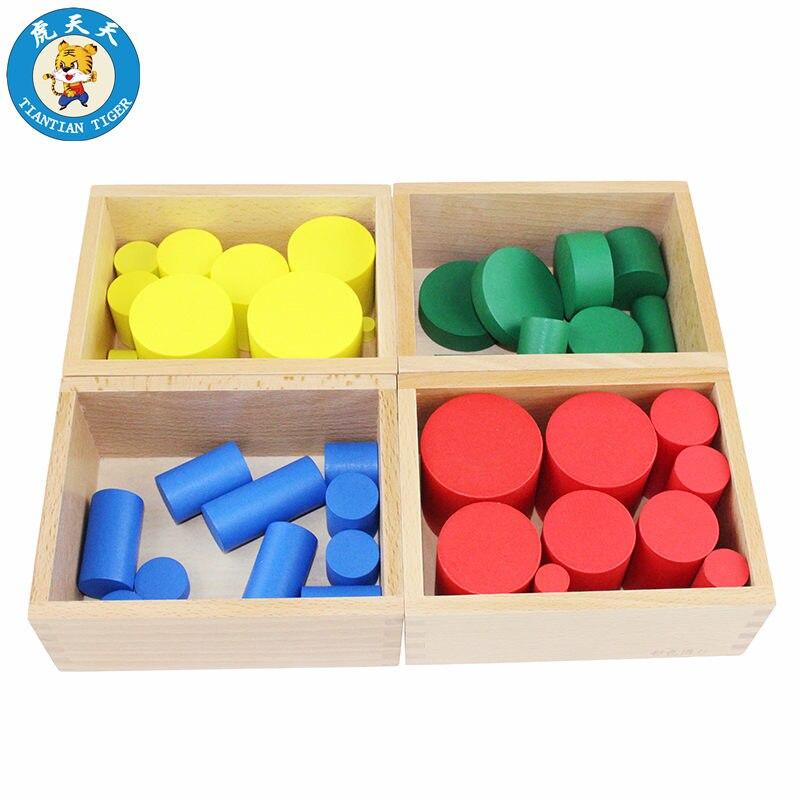 Montessori Bébé Jouets Quatre Cylindre de Couleur Ensemble Sensorielle Jouets Éducation Précoce Enseignement Sida