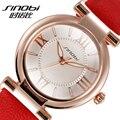 SINOBI часы-браслет с римскими цифрами женские модные часы 2016 повседневные кожаные Роскошные Кварцевые часы Женские наручные часы Montre Femme