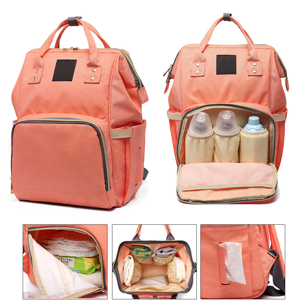 fcc437f4988 US $5.36 44% OFF|Waterproof Diaper Bag Baby Maternity Bag for Wheelchairs  Stroller Nursing Moms Backpack Travel Nappy Changing Bags for Baby Care-in  ...