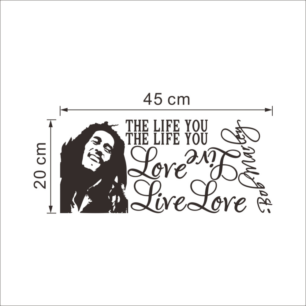 Wholesale Bob Marley Quotes Vinyl Wall Decals Poster Art Wallpaper Stickers Home Decoration In From Garden On Aliexpress