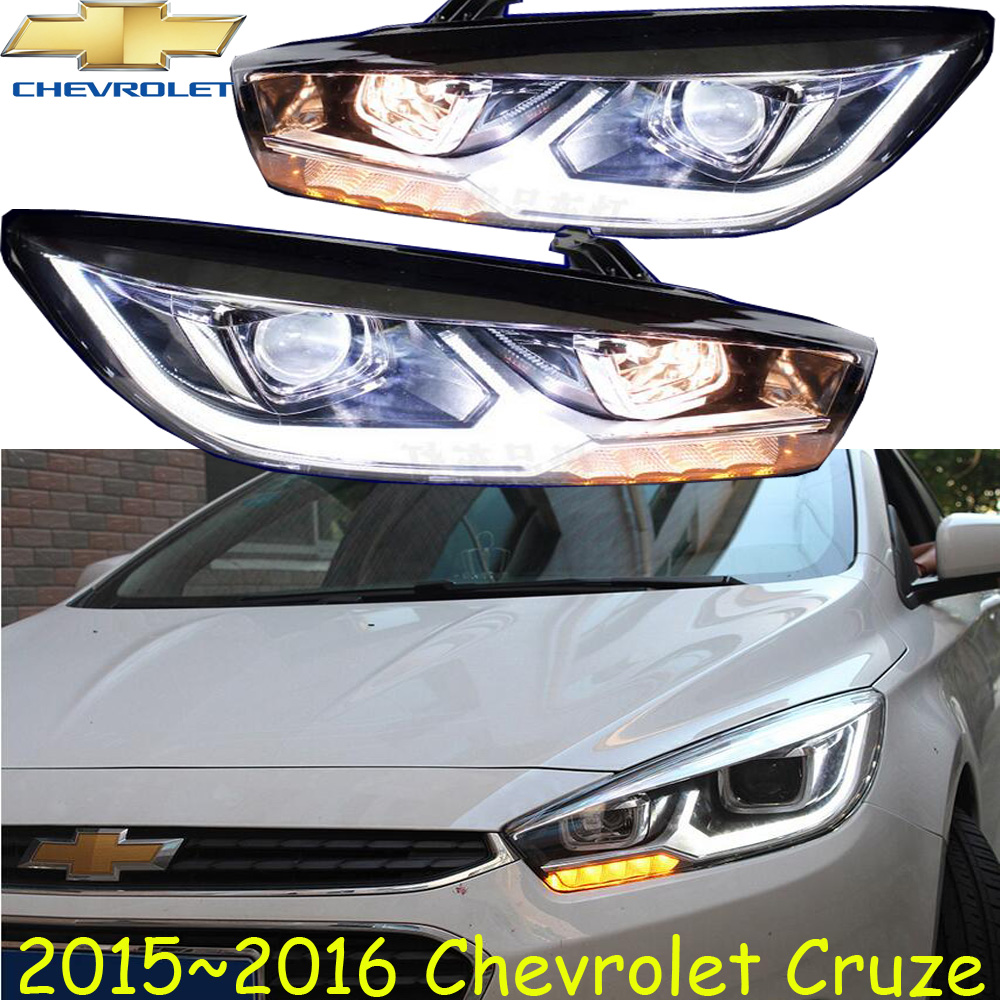 2pcs Bumper lamp Cruze headlight,<font><b>2009</b></font>~2013/<font><b>2015</b></font>~2017 ,Free ship!<font><b>cruz</b></font> head light,malibu,Aveo,Epica,Lova image