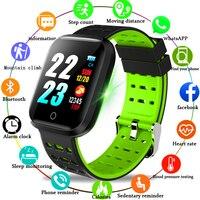 WISHDOIT Smart Sport Watch IP68 Depth Waterproof Watch Heart Rate Sphygmomanometer Electronic Clock alloy Head For Android IOS