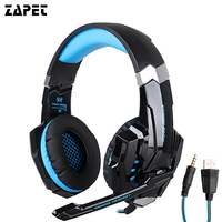 Original EACH G9000 3 5mm Game Gaming Headphone Headset Earphone With Mic LED Light For Laptop