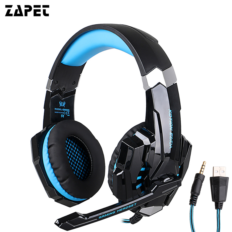ZAPET Original G9000 3.5mm Game Gaming Headphone Headset Earphone With Mic LED Light For Laptop Tablet / PS4 / Mobile Phones star kingelon g9000