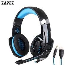 ZAPET Original G9000 3 5mm Game Gaming Headphone Headset Earphone With Mic LED Light For Laptop