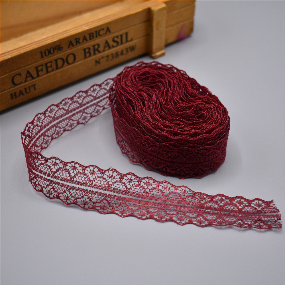 HTB1mjVJdIIrBKNjSZK9q6ygoVXat High quality 10 yards Lace Ribbon Tape Width 28MM Trim Fabric DIY Embroidered Net Cord For Sewing Decoration african lace fabric