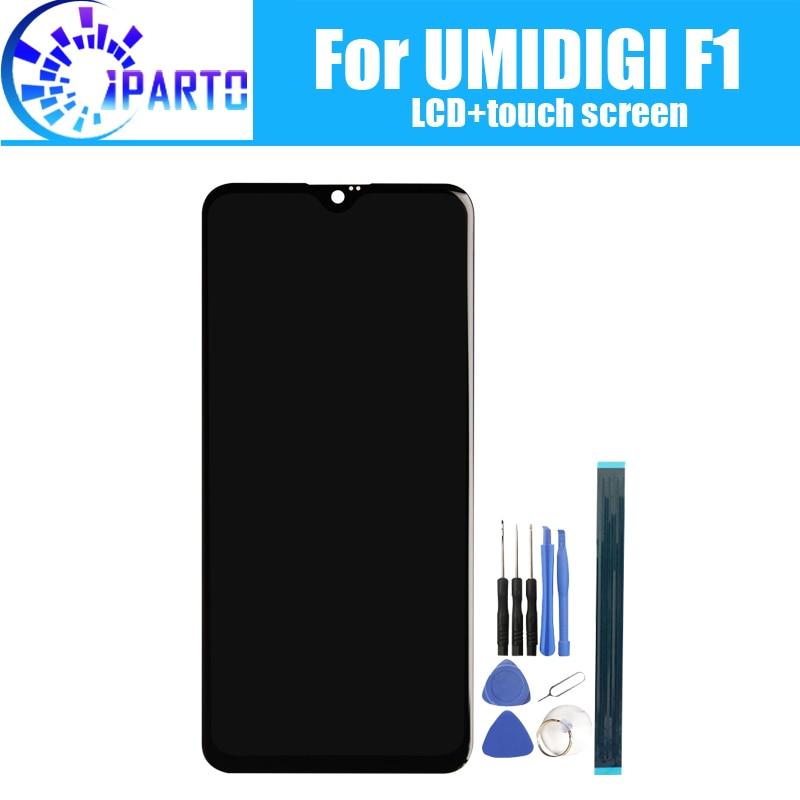 6.3 polegada UMIDIGI F1 Display LCD + de Tela de Toque Original de 100% Testado LCD Digitador de Vidro Substituição Do Painel Para UMIDIGI F1