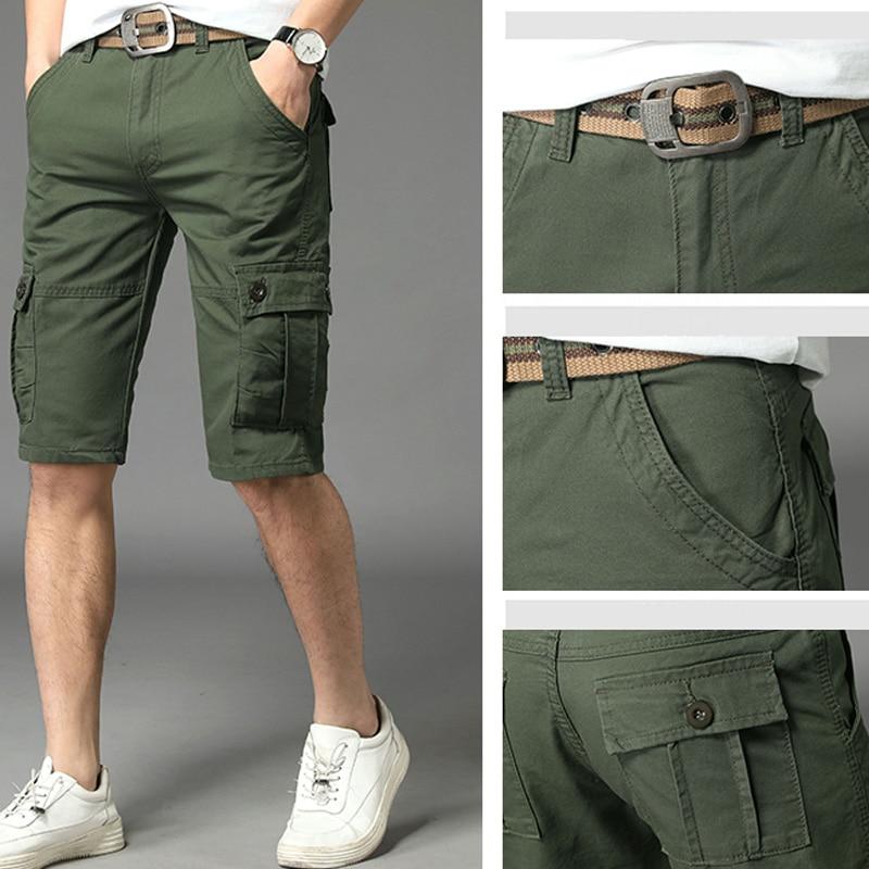 Military Shorts Men Short Hombre Masculino Men'S Sports Streetwear Tooling Breeches Sweatpants Joggers Pantalon Corto Army
