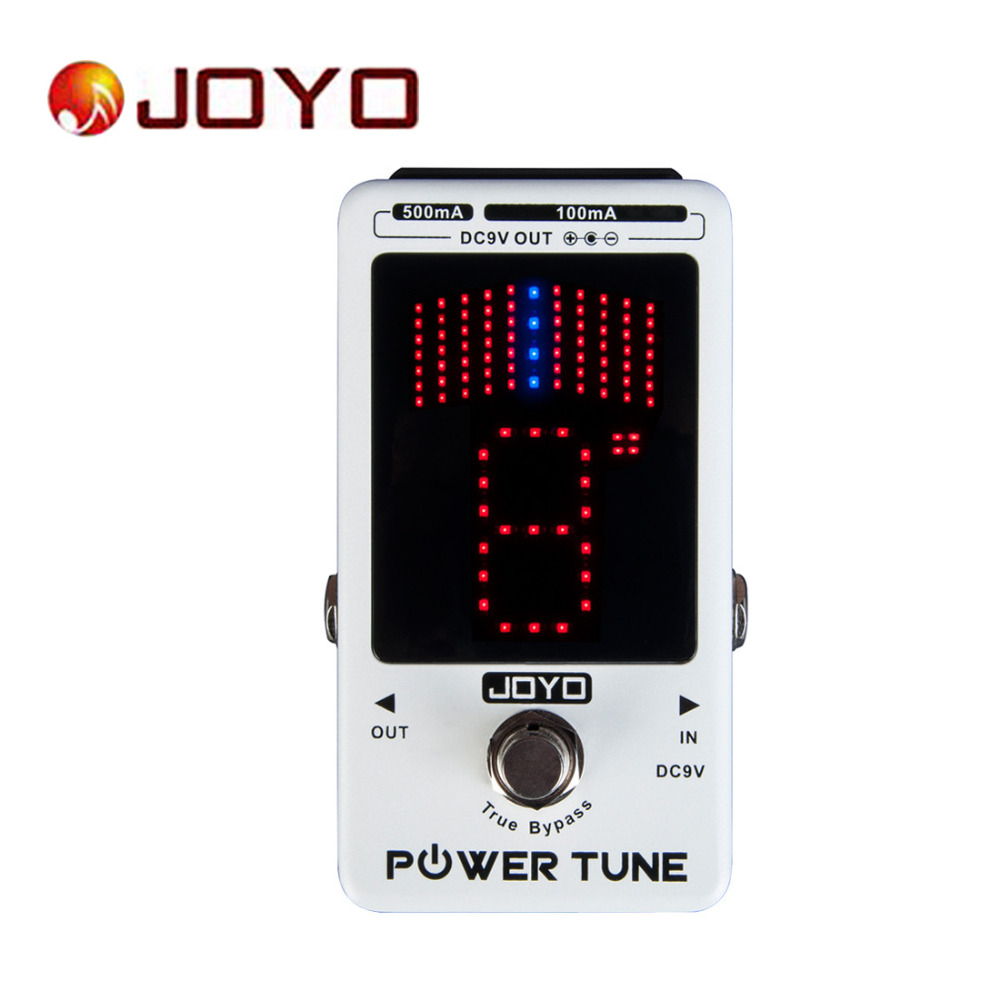 JOYO IRONMAN JF18R Power Tune Electric Guitar Bass Tuner & 8 Port Multi-power Guitar Effect Pedal True Bypass joyo ironman jf 326 irontune tuner guitar effect pedal true bypass jf 326