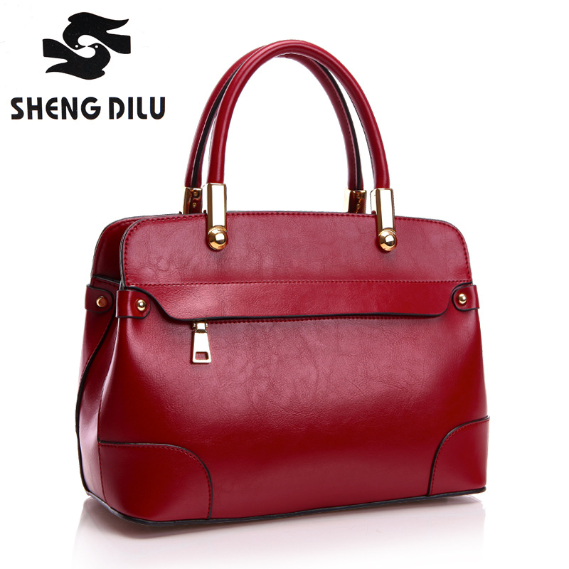 High Quality Genuine Leather Women Bag Bucket Shoulder Bags Solid Big Handbag Large Capacity Top-handle Bags Herald Fashion Bags new 2017 women cow split leather top handle bags baskets pineapple organ small handbag genuine leather mini bucket tote bags
