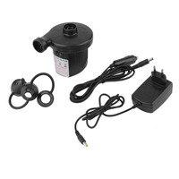 Automobile Air Pump Cigarette Lighter DC12V 50W Black Car Electric Inflator Defator Inflatable Pump With 3
