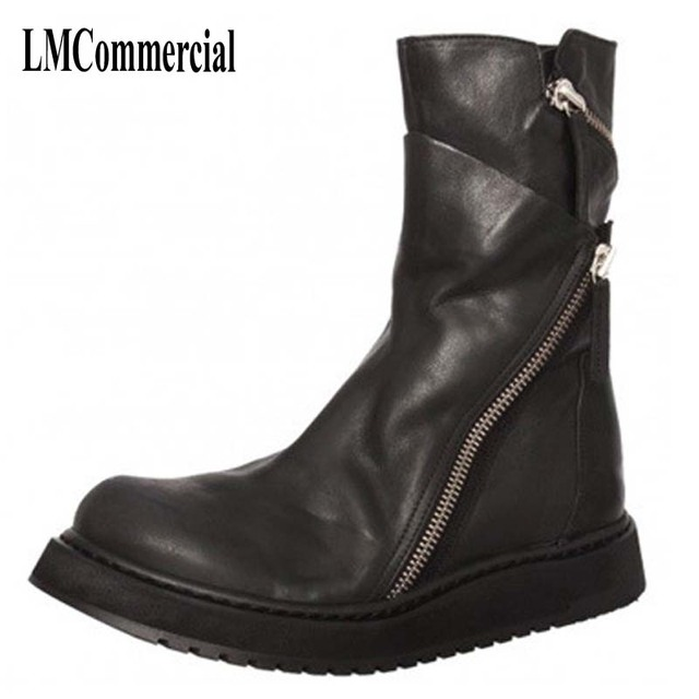 The new Martin men's boots winter boots for men with leather zipper trend of korean wholesale breathable  men casual shoes