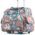 YISHIDUN Travel trolley luggage bag super wear girl printing suitcase box 28'' top quality Canvas rolling new women bags 20 inch