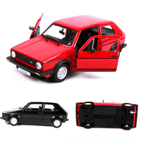 High Simulation 1979 MK2 Golf GTI 1:24 Model Vehicles Alloy Pull Back Car Replica Authorized Diecast Model Toys Kids V065