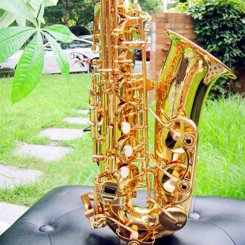 Original Japan YAS 380 Eb Alto Saxophone Top Brass Sax Electrophoresis gold Professional musical instrument With Case Mouthpiece alto saxophone 54 eb flat alto sax top musical instrument sax wear resistant black nickel plated gold process sax