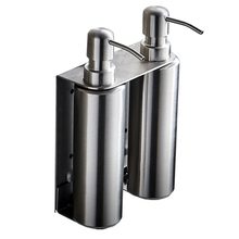 цена на For Kitchen And Bathroom Liquid Soap Dispenser 500Ml Stainless Steel Manual Lotion Shampoo Dispenser Box Accessories