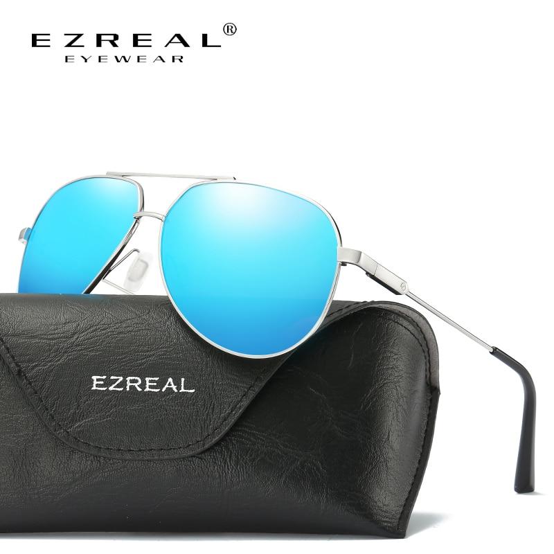 EZREAL Aluminum Magnesium Men s font b Sunglasses b font font b Polarized b font Sun