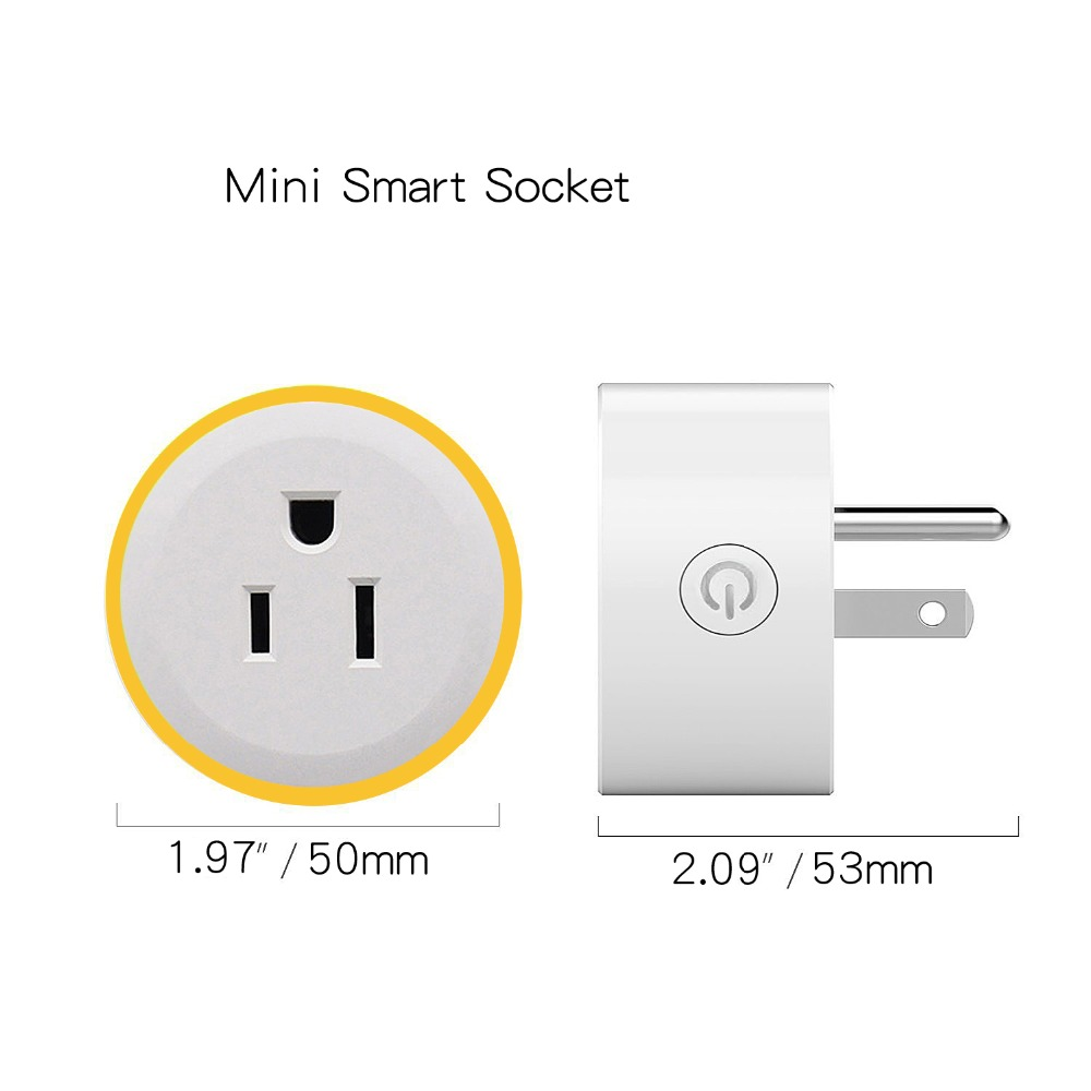 Image 5 - WiFi Switch Mini Socket Plug Wireless Remote Control Outlet with Timer,Dimmer LED Light, Smart Home Compatible with Alexa GoogleSmart Power Socket Plug   -