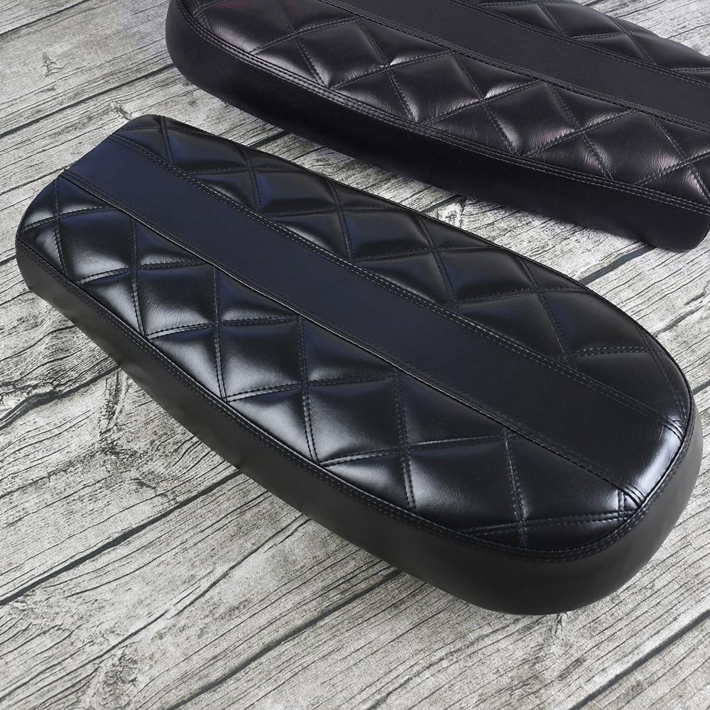 New Arrival Black Motorcycle Cafe Racer Seat Scrambler Vintage Flat Diamond Flat Pan Retro Modified Saddle For CG125 Mayitr