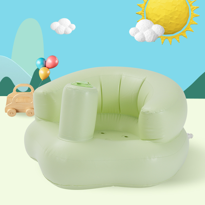 Baby Inflatable Mini Sofa Children Support Seat One Seat Baby Lazy Sofa Training Kid Seat Learn Bathroom