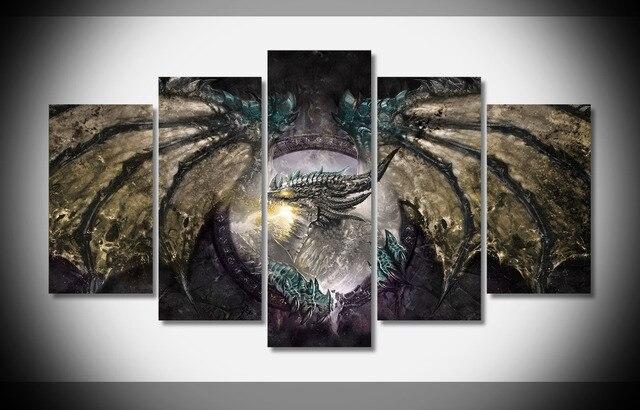 7366 World of Warcraft dragon Poster wood Framed Gallery wrap art ...
