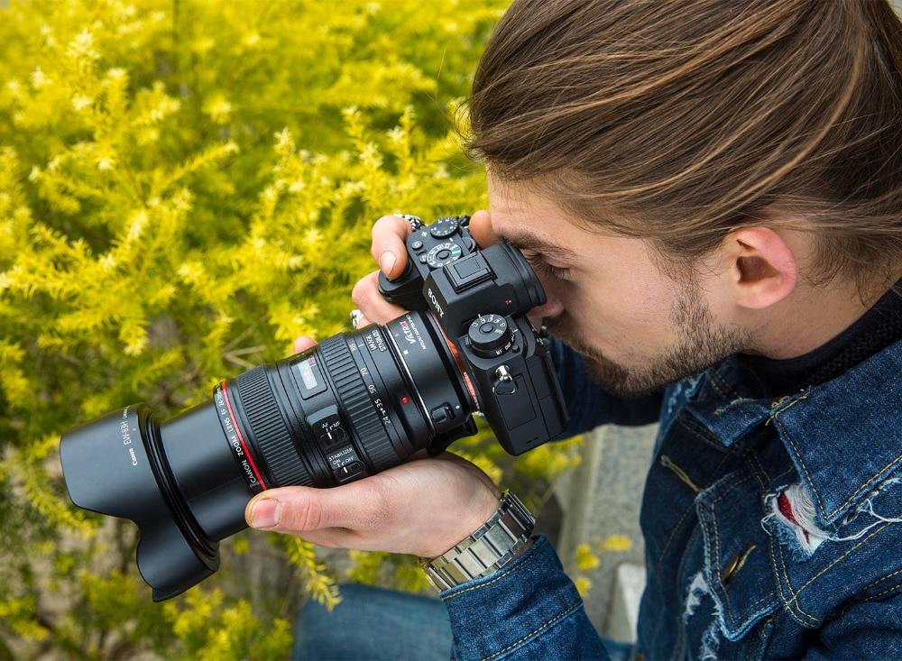 Viltrox EF-NEX IV Canon EOS EF E S obyektiv üçün Sony E NEX Tam - Kamera və foto - Fotoqrafiya 6