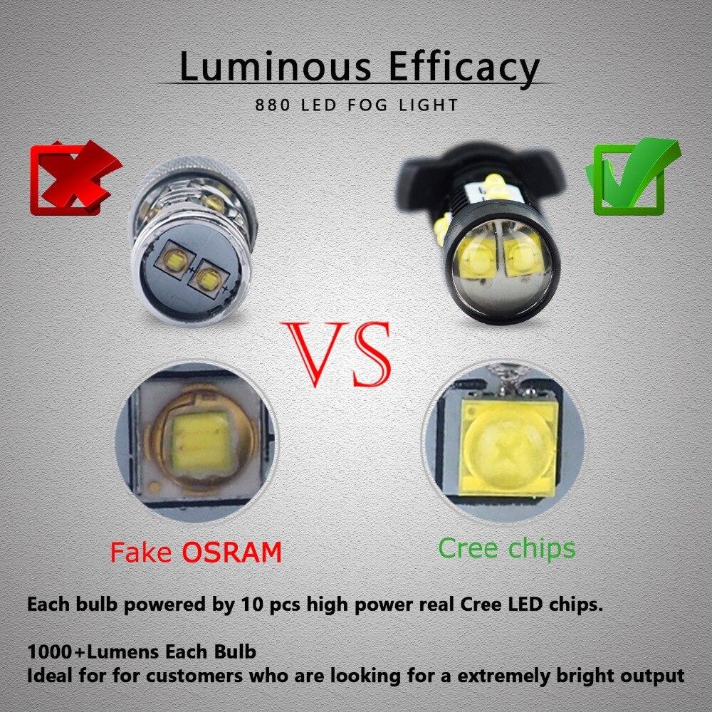 2 հատ հատ PSX24W LED H16 H11 H8 H10 լամպ 50W DRL - Ավտոմեքենայի լույսեր - Լուսանկար 3