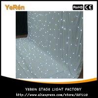 Kurtyna Led z gwiazdami Led tkanina w gwiazdki tło tło sceny tkaniny 3*6M biały kolor w Oświetlenie sceniczne od Lampy i oświetlenie na