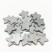 100 pçs 18mm 8 cores de madeira estrelas formas fatias para mesas de casamento do vintage decorações dispersos confetes diy artesanato de natal