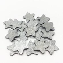 100 Uds. 18mm 8 colores madera estrellas formas rodajas para mesas de boda Vintage decoraciones Scatters confeti manualidades navideñas DIY