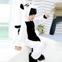 Dropshipping For Girls Boys Winter Children Flannel Animal Pajamas Kid Clothes Cute Pyjamas Hooded Romper Sleepwear