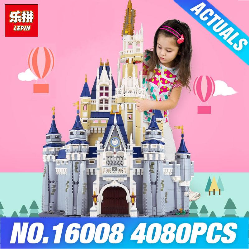 Auf Lager DHL LEPIN 16008 Film Burg 71040 Cinderella Prinzessin Spielzeug Modell Building Block Bricks DIY Pädagogisches Weihnachten Geschenke
