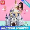 LEPIN 16008 Creator Cinderella Princess Castle City 4080pcs Model Building Minifigures Block Kid Toy Gift Compatible